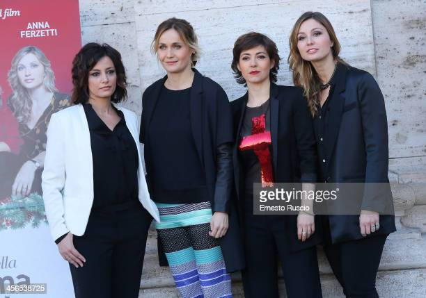 Alessia Barela Lucia Mascino Vanessa Compagnucci and Anna Farzetti attend the 'Il Natale Della Mamma Imperfetta' photocall at Space Moderno on...