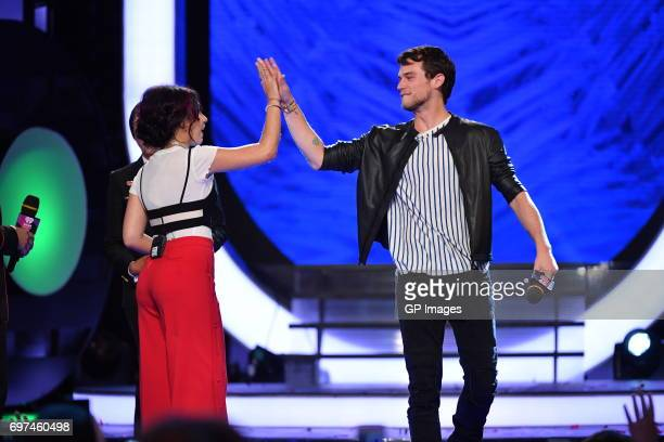 Alessia Cara and Brandon Flynn present at the 2017 iHeartRADIO MuchMusic Video Awards at MuchMusic HQ on June 18 2017 in Toronto Canada