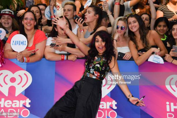 Alessia Cara arrives at the 2017 iHeartRADIO MuchMusic Video Awards at MuchMusic HQ on June 18 2017 in Toronto Canada