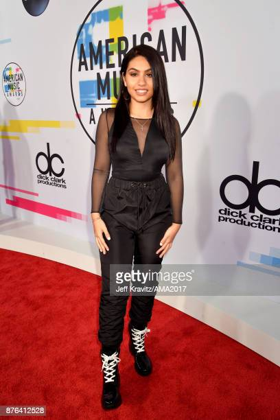 Alessia Cara attends the 2017 American Music Awards at Microsoft Theater on November 19 2017 in Los Angeles California