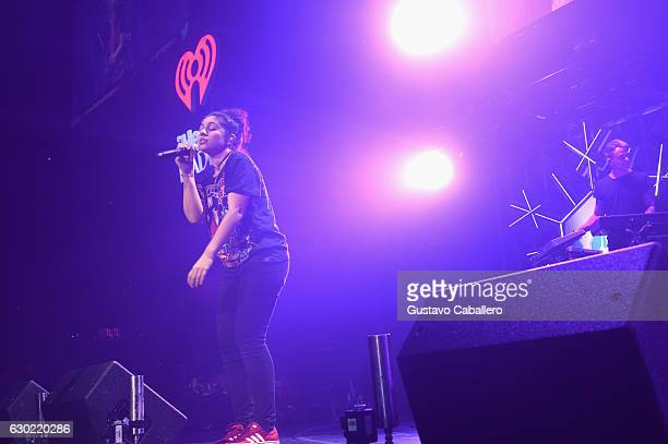 Alessia Cara performs at the Y100's Jingle Ball 2016 at BBT Center on December 18 2016 in Sunrise Florida
