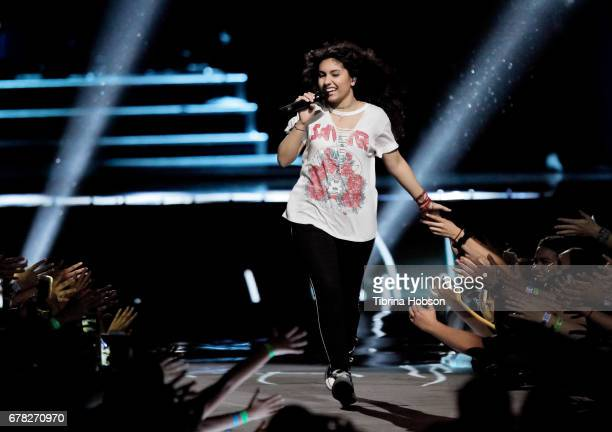 Alessia Cara performs at 'We Day' California 2017 at The Forum on April 27 2017 in Inglewood California