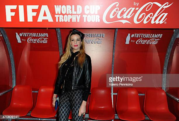 Alessia Fabiani attends a party during day two of the FIFA World Cup Trophy Tour on February 20 2014 in Rome Italy