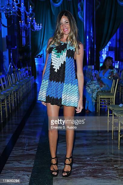 Alessia Fabiani attends Giada Curti A/W 2013 fashion show as part of AltaRoma AltaModa Fashion Week on July 5 2013 in Rome Italy