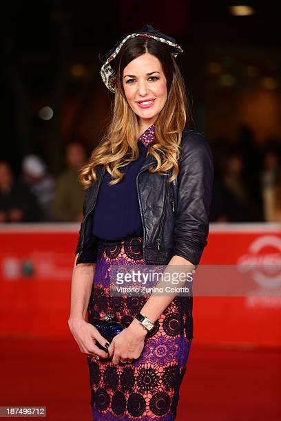 Alessia Fabiani attends 'Las Brujas De Zugarramurdi' Premiere And 'Lue' Premiere And 'Little Feet' Premiere during The 8th Rome Film Festival at...