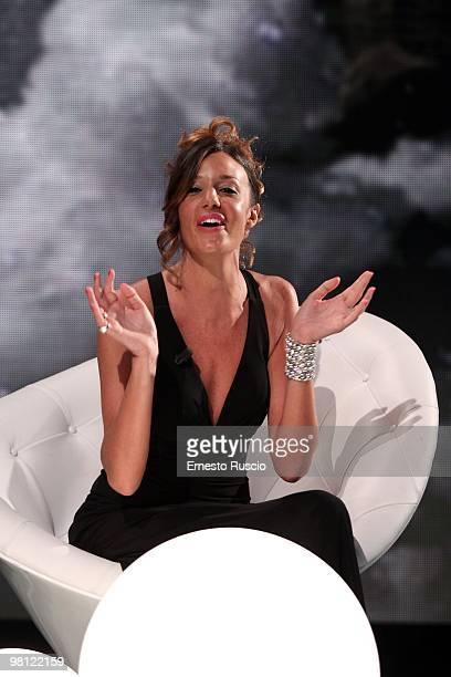 Alessia Fabiani attends the 'Barbareschi Sciock' Italian TV Show at La7 Studios on March 26 2010 in Rome Italy