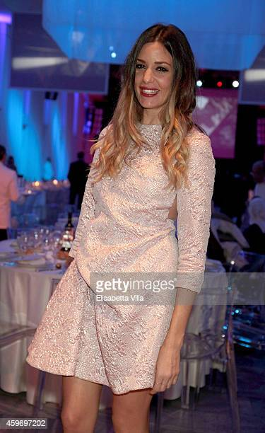 Alessia Fabiani attends the Children for Peace Benifit Gala at Spazio Novecento on November 28 2014 in Rome Italy