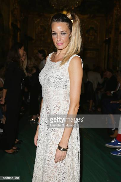 Alessia Fabiani attends the Elisabetta Franchi Show as part of Milan Fashion Week Womenswear Spring/Summer 2015 on September 20 2014 in Milan Italy
