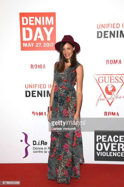 Alessia Fabiani attends the Guess Foundation Denim Day 2017 at Palazzo Barberini on May 4 2017 in Rome Italy