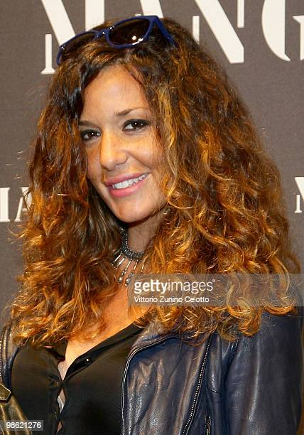 Alessia Fabiani attends the Mango Flagship Store Opening on April 22 2010 in Milan Italy