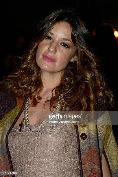Alessia Fabiani attends the Missoni Milan Fashion Week Autumn/Winter 2010 show on February 28 2010 in Milan Italy
