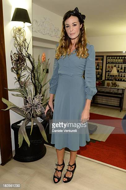 Alessia Fabiani attends the Tiziana Rocca Comunication for Roma Fiction Fest 2013 Dinner Party on September 30 2013 in Rome Italy