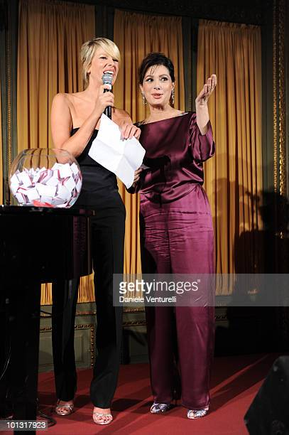 Alessia Marcuzzi and Edwige Fenech attend the Gala Dinner Il Faro Charity Event on May 27 2010 in Rome Italy