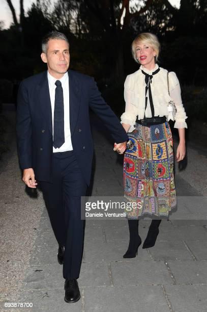 Alessia Marcuzzi and Paolo Calabresi Marconi attend McKim Medal Gala at Villa Aurelia on June 7 2017 in Rome Italy