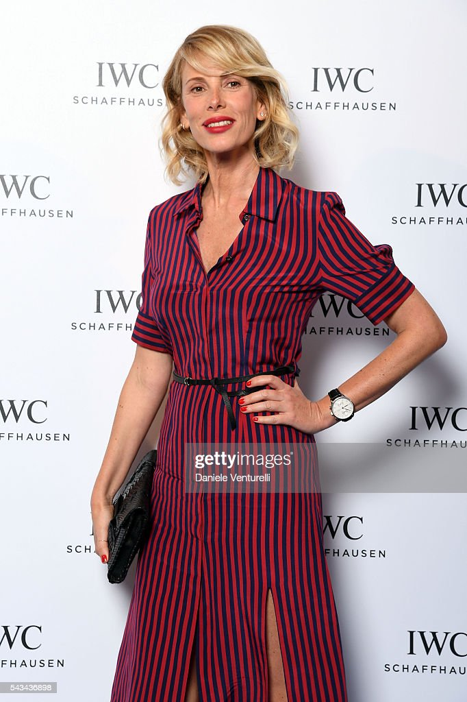 <a gi-track='captionPersonalityLinkClicked' href=/galleries/search?phrase=Alessia+Marcuzzi&family=editorial&specificpeople=3958121 ng-click='$event.stopPropagation()'>Alessia Marcuzzi</a> attends IWC Boutique Opening Dinner on June 28, 2016 in Milan, Italy.