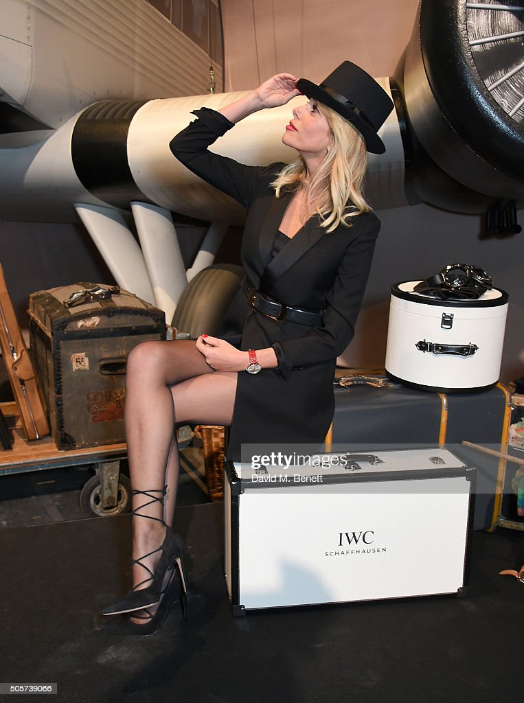 Alessia Marcuzzi attends the IWC 'Come Fly with us' Gala Dinner during the launch of the Pilot's Watches Novelties from the Swiss luxury watch manufacturer IWC Schaffhausen at the Salon International de la Haute Horlogerie (SIHH) 2016 on January 19, 2016 in Geneva, Switzerland.