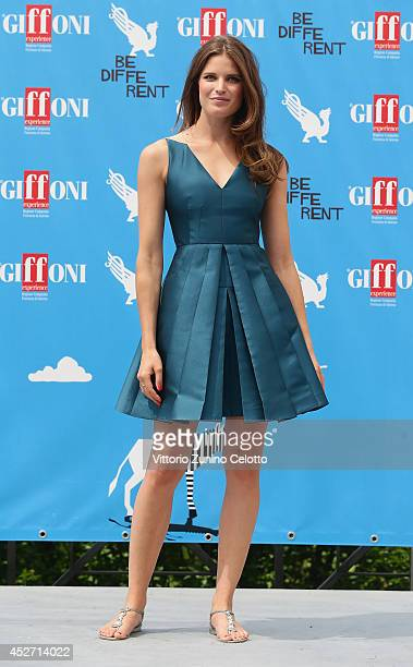 Alessia Piovan attends the Giffoni Film Festival photocall on July 26 2014 in Giffoni Valle Piana Italy