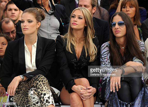Alessia Piovan Martina Stella and Benedetta Mazzini attend the Roberto Cavalli Fashion Show as part of Milan Fashion Week Womenswear S/S 2011 on...