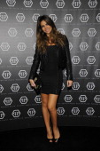 Alessia Ventura arrives at the Philipp Plein show during Milan Fashion Week Menswear Autumn/Winter 2013 on January 14 2013 in Milan Italy
