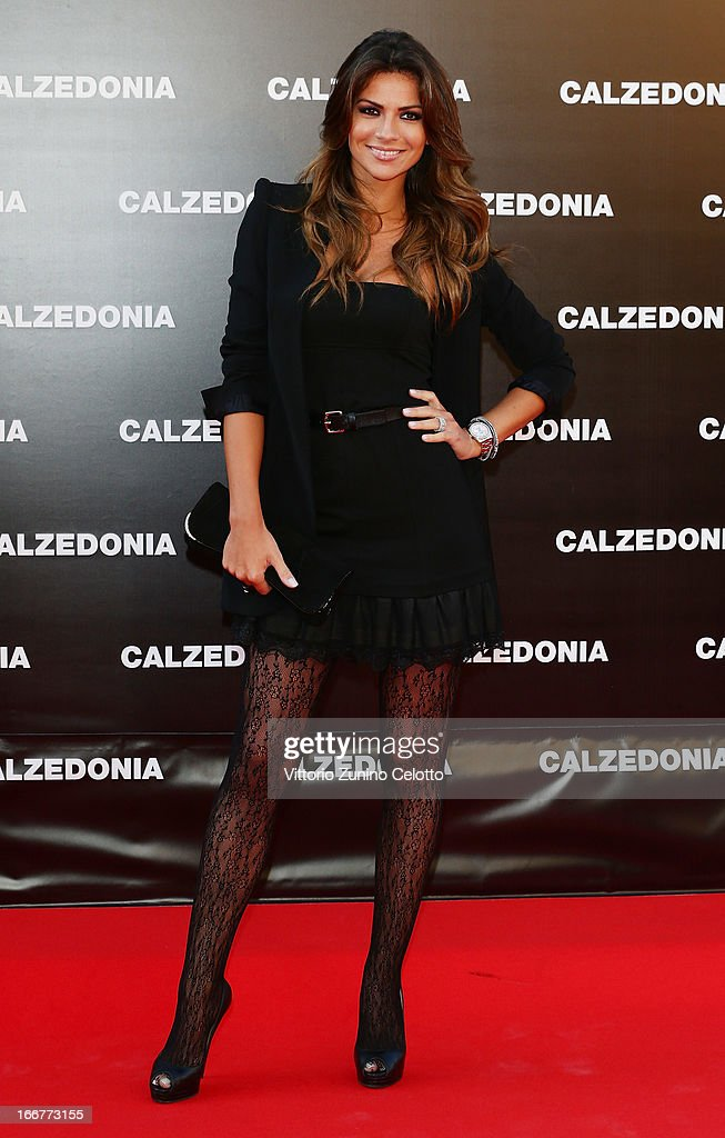 Alessia Ventura attends Calzedonia Summer Show Forever Together on April 16, 2013 in Rimini, Italy.