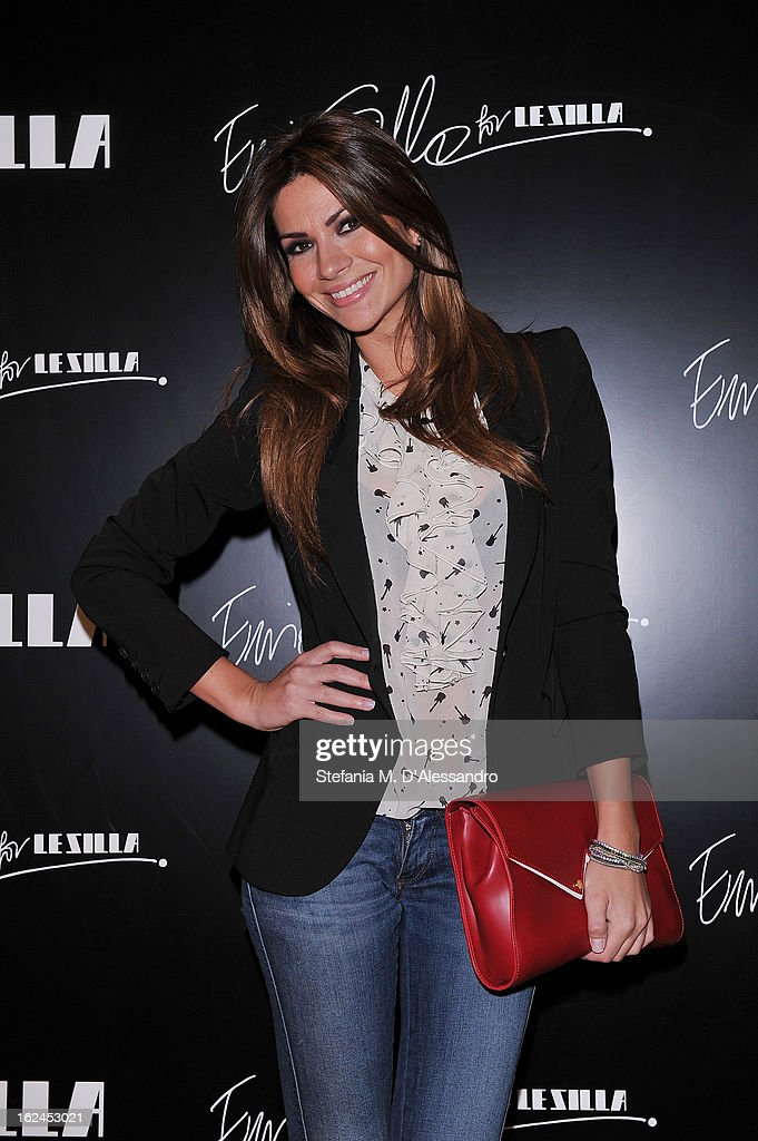 Alessia Ventura attends Le Silla Presentation during Milan Fashion Week Womenswear Fall/Winter 2013/14 on February 23 2013 in Milan Italy