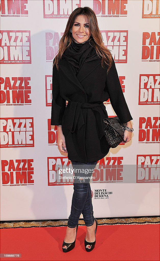 Alessia Ventura attends 'Pazze di Me' Premiere at Cinema Odeon on January 22, 2013 in Milan, Italy.