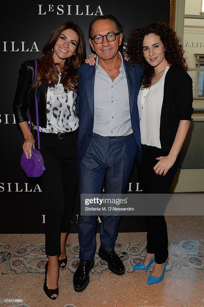 Alessia Ventura Enio Silla and Morena Salvino attend the Le Silla Fall/Winter 201415 Collection Presentation as part of Milan Fashion Week Womenswear...