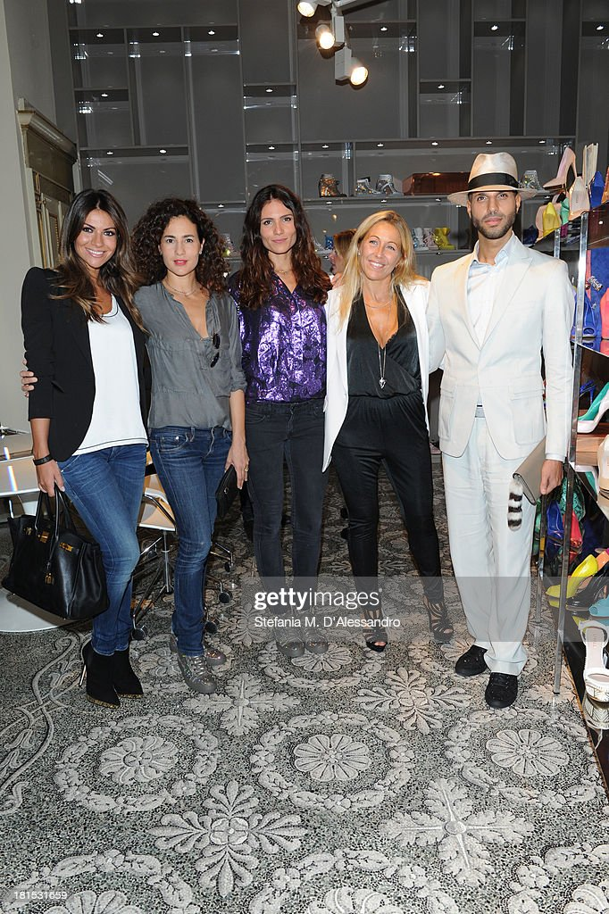 Alessia Ventura Morena Salvino Gioia Marzocchi Monica Ciabattini and Jonathan Kashanian attend the Le Silla Presentation as part of Milan Fashion...