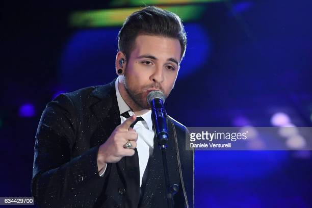 Alessio Bernabei attends the third night of the 67th Sanremo Festival 2017 at Teatro Ariston on February 9 2017 in Sanremo Italy