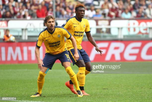 Alessio Cerci and Moise Kean during the Serie A football match between Torino FC and Hellas Verona FC at Olympic Grande Torino Stadium on 1 October...
