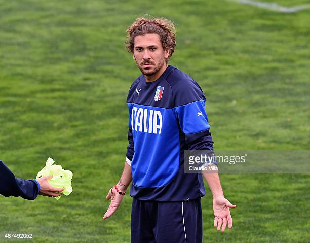 Alessio Cerci during Italy Training Session at Coverciano on March 25 2015 in Florence Italy
