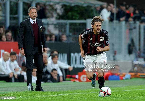 <Alessio Cerci of AC Milan in action during the Berlusconi Trophy match between AC Milan and FC Internazionale at Stadio Giuseppe Meazza on October...