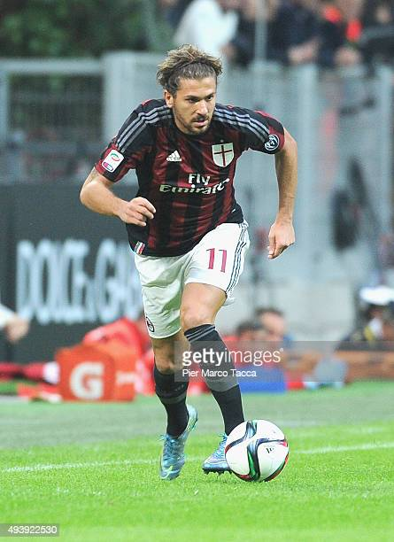 Alessio Cerci of AC Milan in action during the Berlusconi Trophy match between AC Milan and FC Internazionale at Stadio Giuseppe Meazza on October 21...