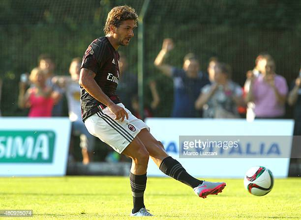 Alessio Cerci of AC Milan in action during the preseason friendly match between AC Milan and Legnano on July 14 2015 in Solbiate Arno Italy