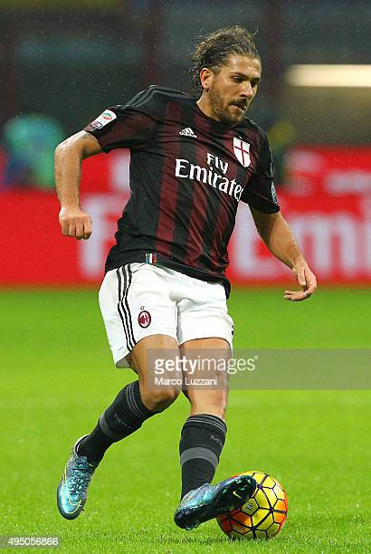 Alessio Cerci of AC Milan in action during the Serie A match between AC Milan and AC Chievo Verona at Stadio Giuseppe Meazza on October 28 2015 in...