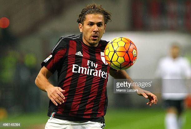 Alessio Cerci of AC Milan in action during the Serie A match between AC Milan and Atalanta BC at Stadio Giuseppe Meazza on November 7 2015 in Milan...