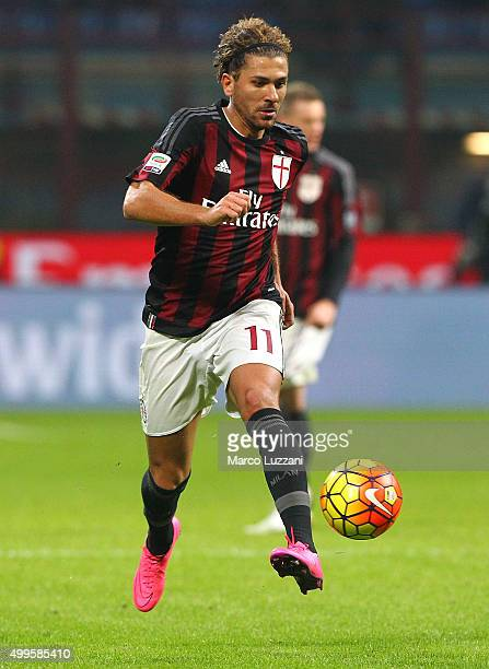 Alessio Cerci of AC Milan in action during the Serie A match between AC Milan and UC Sampdoria at Stadio Giuseppe Meazza on November 28 2015 in Milan...