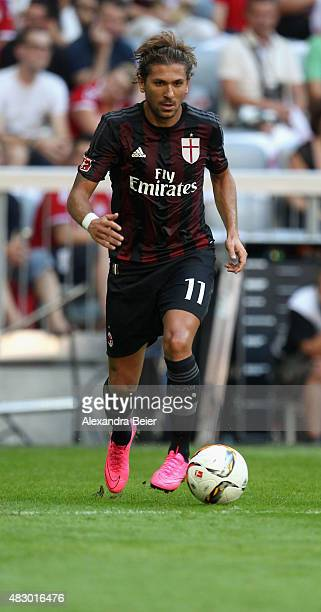 Alessio Cerci of AC Milan kicks the ball during the Audi Cup third place match between Tottenham Hotspur and AC Milan at Allianz Arena on August 5...