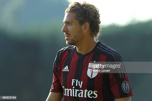 Alessio Cerci of AC Milan looks on during the preseason friendly match between AC Milan and Legnano on July 14 2015 in Solbiate Arno Italy