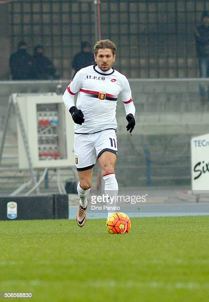 Alessio Cerci of Genoa CFC in action during the Serie A match between Hellas Verona FC and Genoa CFC at Stadio Marc'Antonio Bentegodi on January 24...