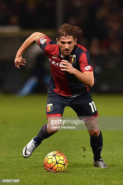 Alessio Cerci of Genoa CFC in action during the Serie A match between Genoa CFC and SS Lazio at Stadio Luigi Ferraris on February 6 2016 in Genoa...
