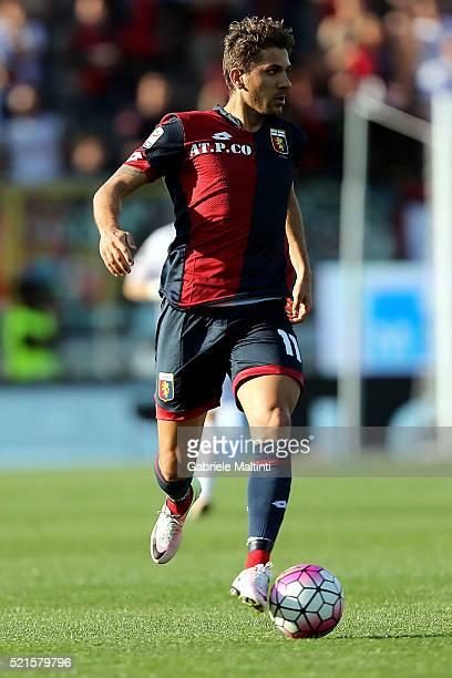 Alessio Cerci of Genoa CFC in action during the Serie A match between Carpi FC and Genoa CFC at Alberto Braglia Stadium on April 16 2016 in Modena...
