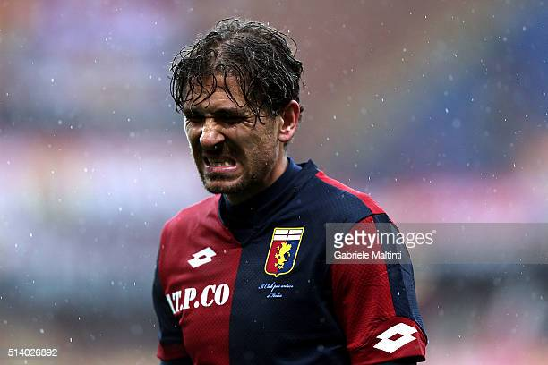 Alessio Cerci of Genoa CFC reacts during the Serie A match between Genoa CFC and Empoli FC at Stadio Luigi Ferraris on March 6 2016 in Genoa Italy