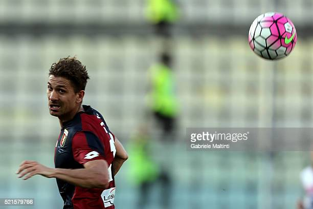 Alessio Cerci of Genoa CFC reacts during the Serie A match between Carpi FC and Genoa CFC at Alberto Braglia Stadium on April 16 2016 in Modena Italy