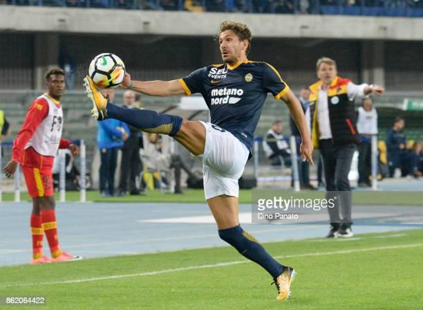 Alessio Cerci of Hellas Verona FC in action during the Serie A match between Hellas Verona FC and Benevento Calcio at Stadio Marc'Antonio Bentegodi...