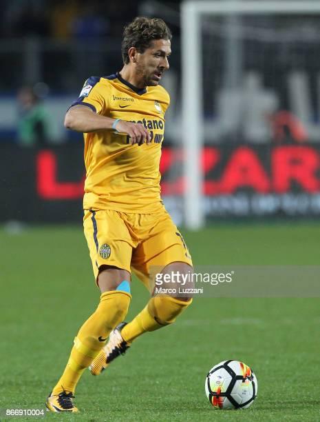 Alessio Cerci of Hellas Verona FC in action during the Serie A match between Atalanta BC and Hellas Verona FC at Stadio Atleti Azzurri d'Italia on...