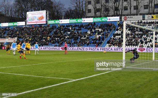 Alessio Cerci of Hellas Verona scores the opening goal during the Serie A match between Spal and Hellas Verona FC at Stadio Paolo Mazza on December...