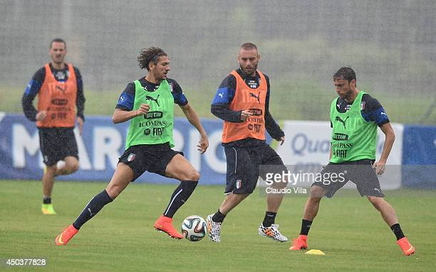 Alessio Cerci of Italy in action during a training session on June 10 2014 in Rio de Janeiro Brazil