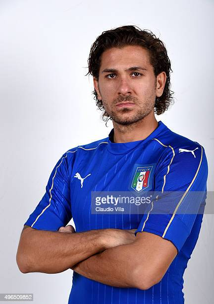 Alessio Cerci of Italy poses during the official portrait session at Coverciano on November 10 2015 in Florence Italy