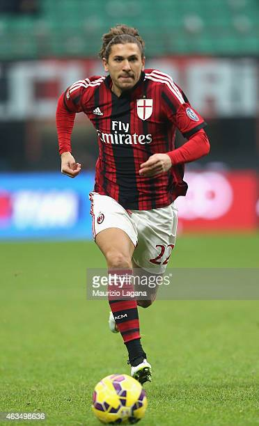 Alessio Cerci of Milan during the Serie A match between AC Milan and Empoli FC at Stadio Giuseppe Meazza on February 15 2015 in Milan Italy